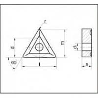 Пластина твердосплавная сменная 01114-220408 Т5К10 с покрытием