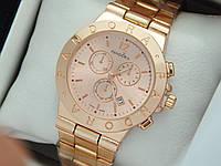 Женские кварцевые наручные часы  Пандора (Pandora) розовое золото, с золотым циферблатом - код 1556, фото 1