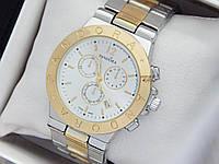 Женские кварцевые наручные часы  Пандора (Pandora) комбинированные, серебро золото - код 1557, фото 1