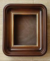 Мини киот с закруглёнными углами и двойной внутренней рамкой для небольшой иконы., фото 1
