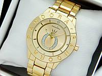 Женские кварцевые наручные часы  Пандора (Pandora) золото, золотой циферблат - код 1559, фото 1