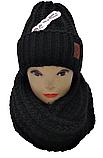 М 5104 Комплект жіночий шапка і хомут , різні кольори, фото 3