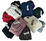М 5104 Комплект жіночий шапка і хомут , різні кольори, фото 5