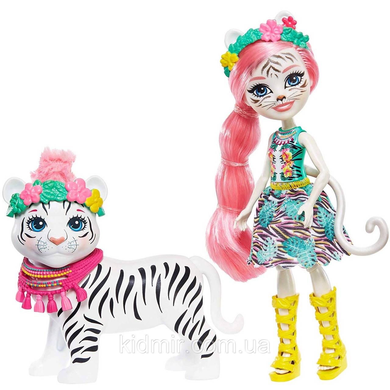 Кукла Enchantimals Белый тигр Тэдли Тайгер с большой зверюшкой GFN57