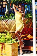 Облегающее летнее женское платье без рукавов воротник украшен золотой гарнитурой с фирменным знаком жаккард