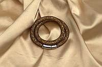 Двойной браслет  в стиле Stardust Swarovski Черное золото Премиум