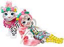 Кукла Enchantimals Белый тигр Тэдли Тайгер с большой зверюшкой GFN57, фото 7