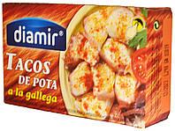 Осьминог кусочками  по-галисийски Diamir Tacos de Pota a la gallega 111г.ж/б