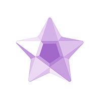 DJ22 - Звезда розовая (фианит)