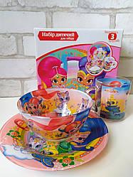 Детский набор стеклянной посуды Шиммер и Шайн