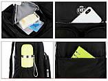 Рюкзак-сумка міський жіночий стильний для дівчаток, дівчат + брелок ВЕДМЕДИК (чорний), фото 10