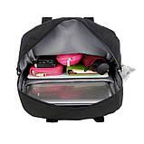 Рюкзак-сумка міський жіночий стильний для дівчаток, дівчат + брелок ВЕДМЕДИК (чорний), фото 9