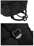 Рюкзак-сумка міський жіночий стильний для дівчаток, дівчат + брелок ВЕДМЕДИК (чорний), фото 8