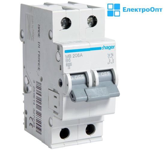 Автоматичний вимикач MCN210 автомат hager ( хагер )