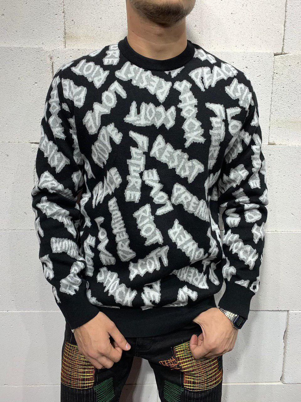 Чоловічий светр 2Y Premium 7044 black