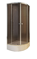 Душевая кабина полукруглая 90*90*167 AFA (brown)  Aquaform (Польша)+Поддон Melit
