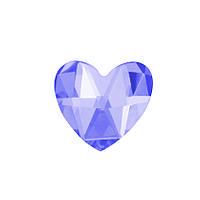DJ74 - Сердце пурпурное (фианит)