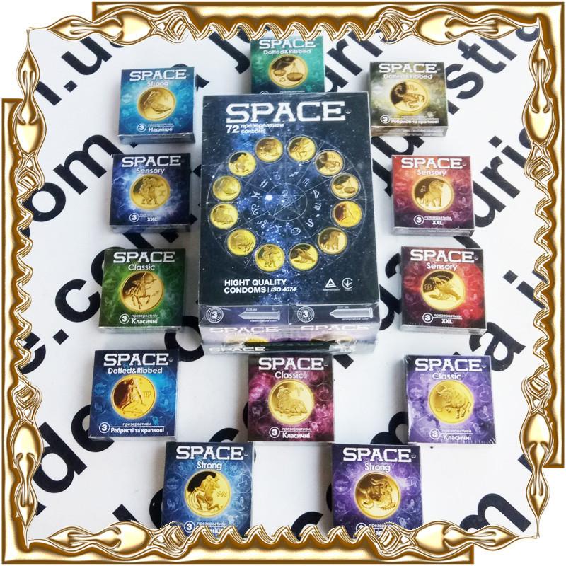 Презервативы Space 3 шт./уп.  (12 или 24 уп./бл.)