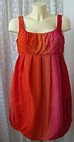 Платье женское модное яркое стильное шелковое мини бренд Principles р.46