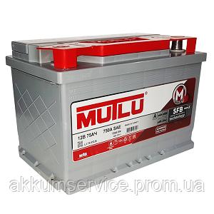 Аккумулятор автомобильный Mutlu Silver 75AH R+ 750A (L3.75.072.A)
