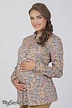 Рубашка для беременных и кормящих из стрейчевой хлопковой ткани Noni BL-36.031, фото 2