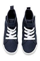 Высокие текстильные  кеды , кроссовки для мальчика H&M р. 34