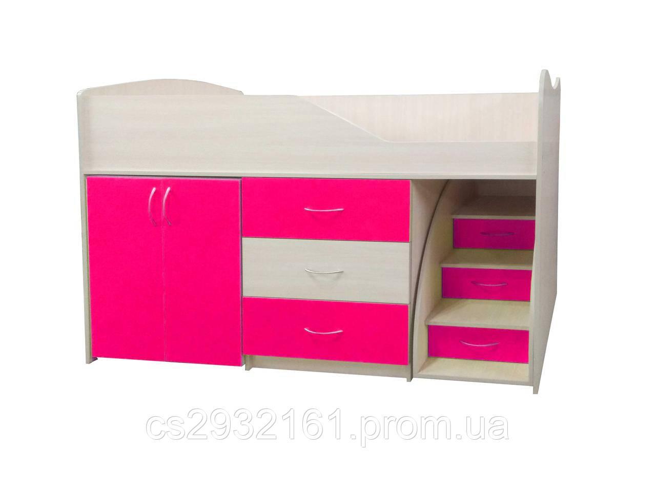 Кровать чердак Смайл  Кровать детская. БЕСПЛАТНО доставка!!!! БЕЗ СТОЛА