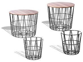 Приставные столики с корзинами, 4 предмета Livarno Living Beistelltischset Черный LT9989