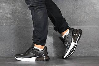 Черные кроссовки мужские прессованная кожа 46, фото 2