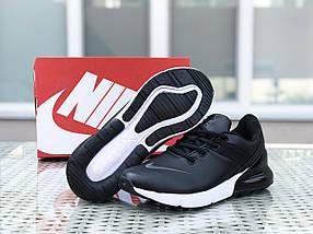 Черные кроссовки мужские прессованная кожа 46, фото 3