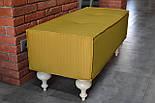 Банкетка для спальни с белыми ножками, фото 4