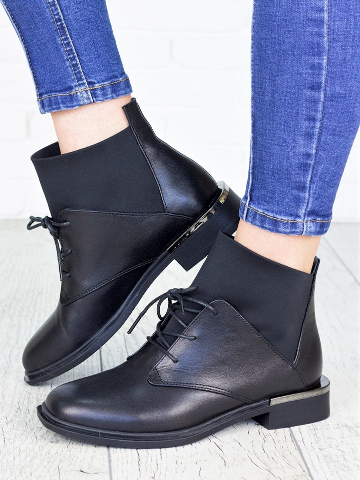 Ботинки женские кожаные демисезонные 7146-28
