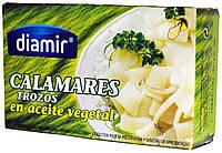 Кальмар в подсолнечном масле Diamir Calamares trozos en aceite vegetal 110г.ж/б