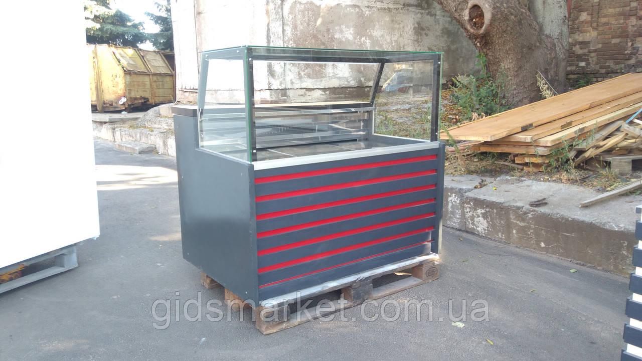 Витрина-Куб холодильная 1,25 м. Гастрономическая витрина б.у.
