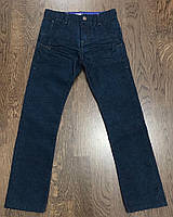 Темно- синие микровельветовые штаны (брюки) OKAIDI Slim на мальчика 10 лет (138см)