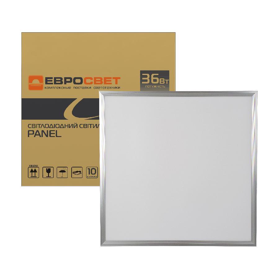Светильник светодиодная панель ЕВРОСВЕТ 36Вт PANEL  6400K 3000Лм promo pack