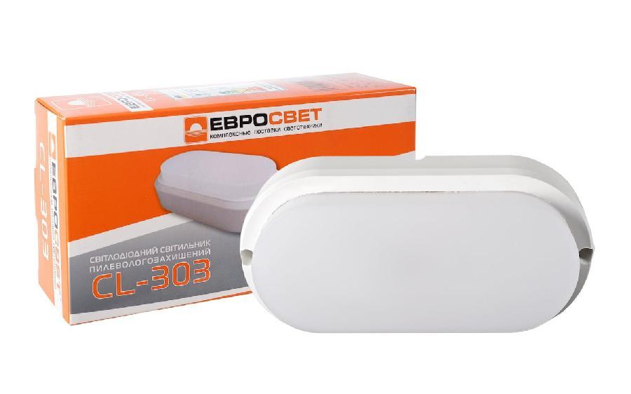 Светильник светодиодный накладной ЕВРОСВЕТ 12Вт овал CL-303 6400K IP65