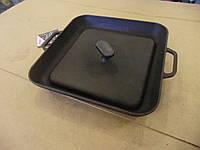 Сковорода гриль с прессом 280х280 чугунная (СИТОН)