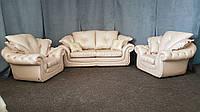 """Кожаный комплект мягкой мебели """"Isadora. Диван, два кресла, фото 1"""