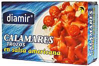 Кальмар в соусе Американа Diamir Calamares trozos en salsa americana 110г.ж/б