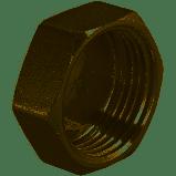 Никелированная  заглушка 1 дюйм внут. MIRAYA, фото 2