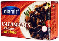 Кальмар в собственных чернилах Diamir Calamares trozos en tinta 110г.ж/б