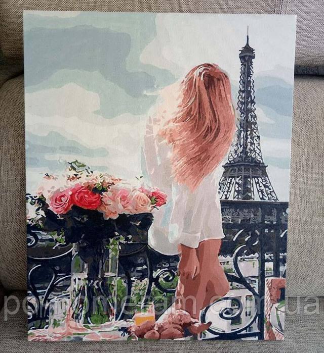 картина по номерам девушка в париже