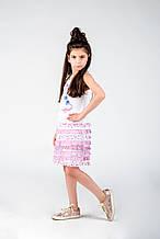 Нарядное платье для девочки BRUMS Италия 132BGIM002 Белый