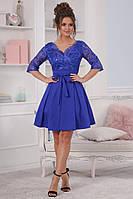 Нарядное платье верх дорогое кружево на сетке и пышная юбка костюмка+фатин Размеры 42,44,46,48
