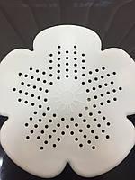 Сетка для раковины силиконовая / Улавливатель мусора для мойки на присосках Цветок
