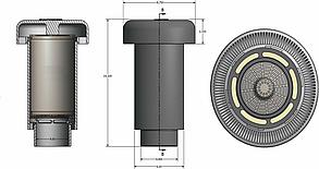 Фильтр WAGER (USA) для очистки воздуха от вонючих газов для монтажа на фановую трубу на крыше коттеджа, фото 3