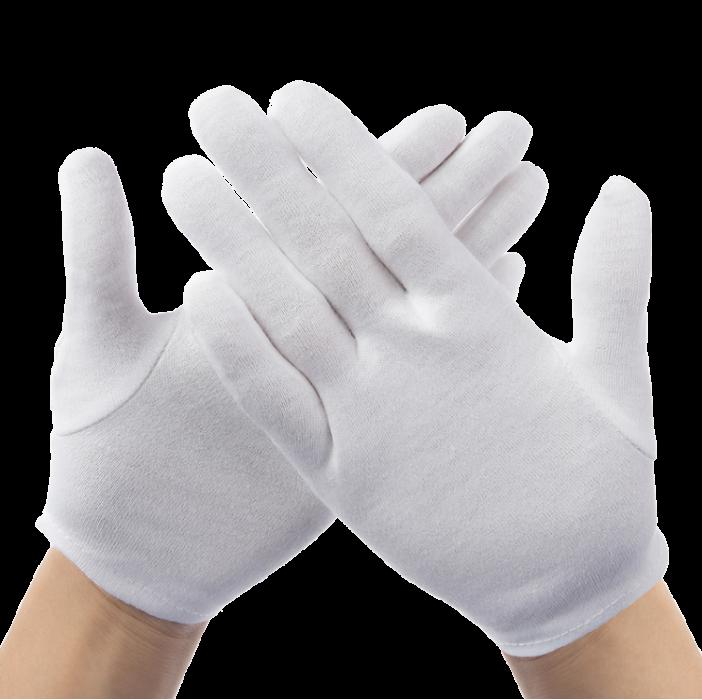 Перчатки для официантов, ювелиров Atteks парадные белые L - 1204