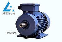Электродвигатель 5АМ80А6 0,75 кВт 1000 об/мин, 380/660В