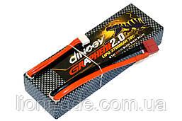 Аккумулятор Dinogy G2.0 Li-Pol 3700mAh 11.1V 3S 70C Hardcase 25x46x138мм T-Plug